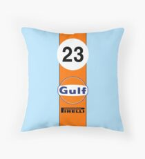 Gulf Oil Racing colours Throw Pillow