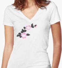 Marinette Dupain-Cheng (Miraculous) Women's Fitted V-Neck T-Shirt