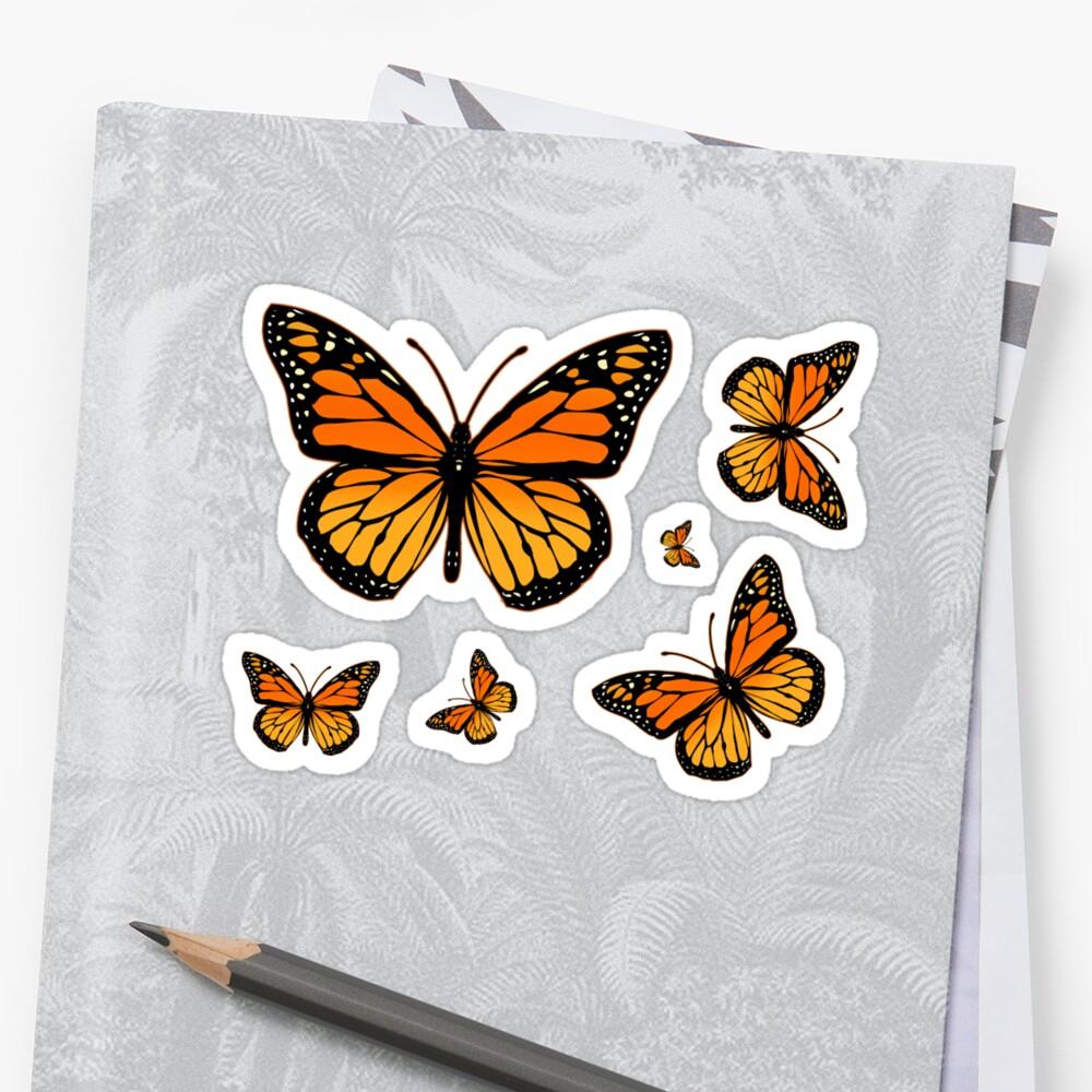 Monarch Butterfly Rapsody Sticker