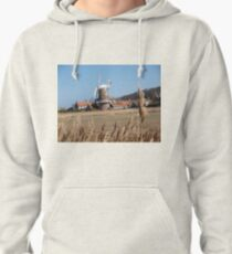 Cley Windmill from the reeds Pullover Hoodie
