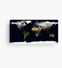 Weltkarte [HD] - Satellitentopographie Leinwanddruck