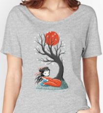Girl and a Fox 2 Women's Relaxed Fit T-Shirt