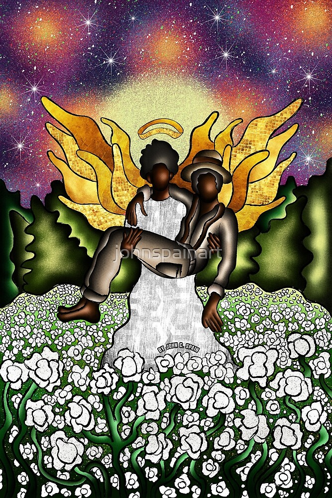 Angel In The Cotton Fields ( Gold Series Pt. 2 ) by johnspainart