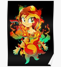 sunset shimmer drawing posters redbubble