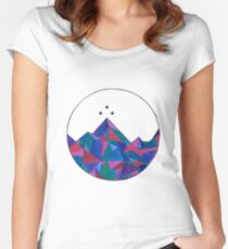 Night Court Watercolor Women's Fitted Scoop T-Shirt