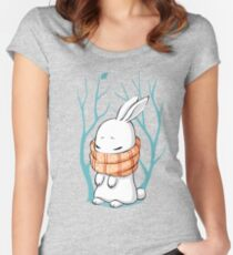 Winter Bunny Women's Fitted Scoop T-Shirt
