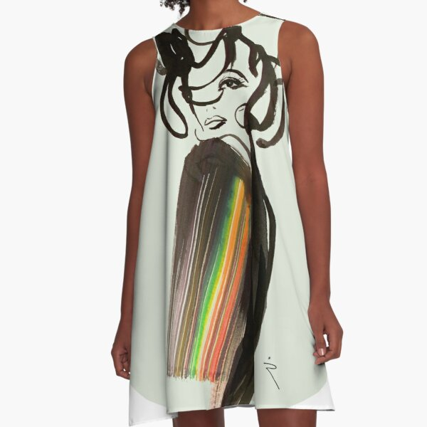RAINBOW A-Linien Kleid