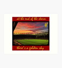 At the end of the storm there's a golden sky  Art Print