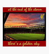 At the end of the storm there's a golden sky  Photographic Print