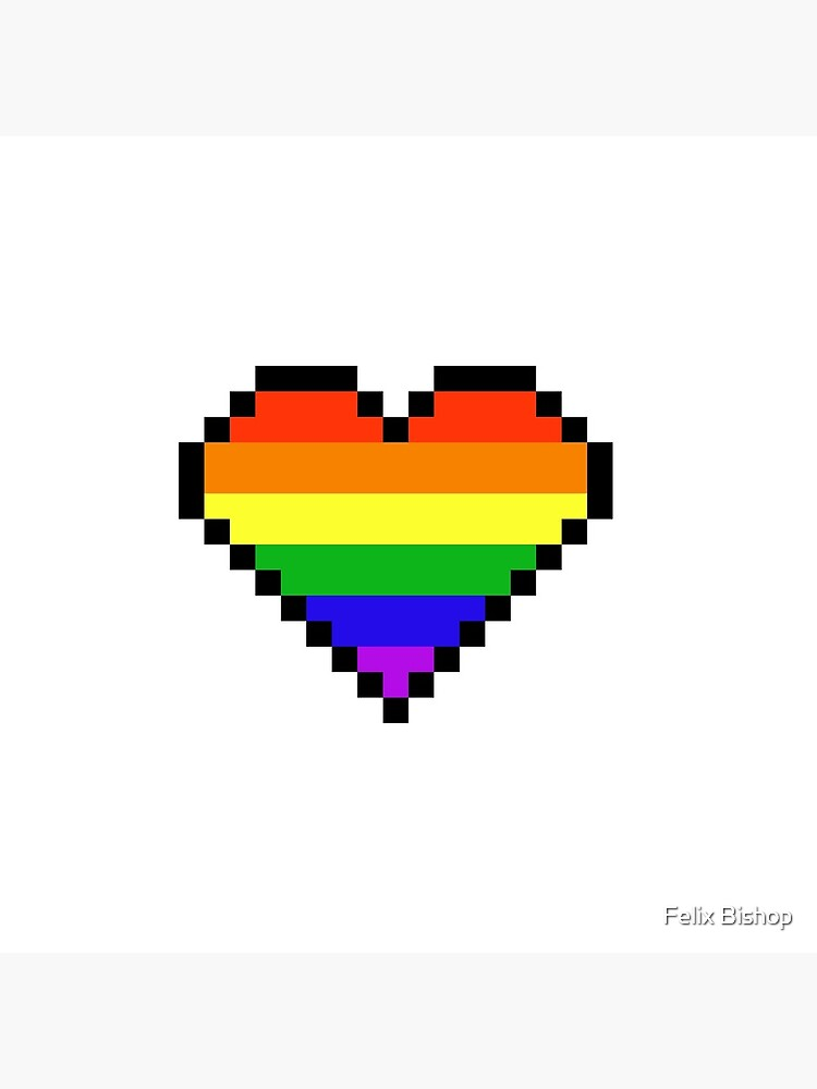 Coeur De Pixel Arc En Ciel Carte De Vœux