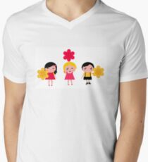 Cute childrens holding flowers : cartoon characters T-Shirt