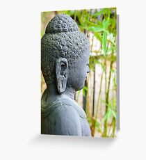 statue of buddha in zen garden Greeting Card