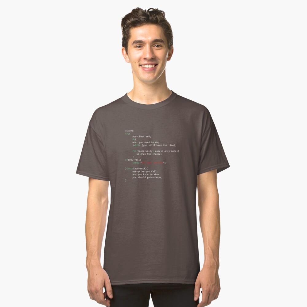 Geek Coder Classic T-Shirt Front