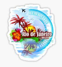 Rio de Janeiro Beach Style Sticker