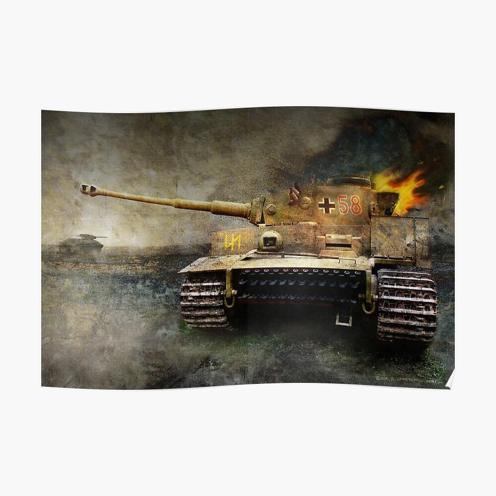 Tiger Tank Gesichter T-34, Ostfront Poster