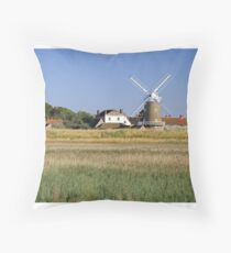Cley Windmill Panorama Throw Pillow