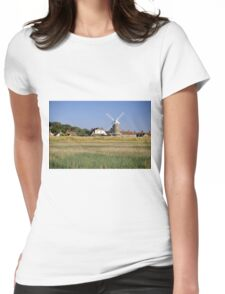Cley Windmill Panorama Womens Fitted T-Shirt