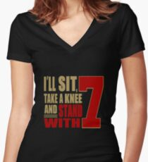 I Stand with 7 Women's Fitted V-Neck T-Shirt
