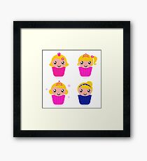 Little princess cakes for your School Girl Framed Print
