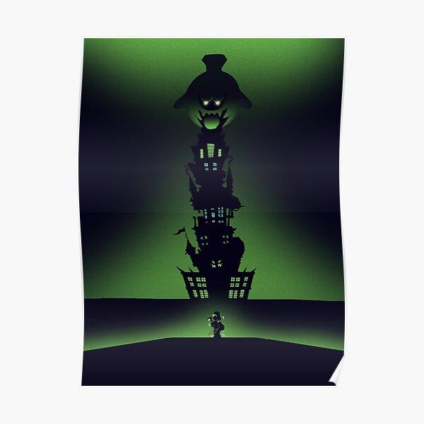 Luigi's Mansion - Minimalist Travel Style - Video Game Art Poster
