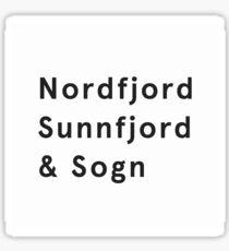Sogn og Fjordane Sticker