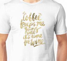Coffee & Wine – Gold Unisex T-Shirt