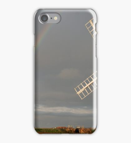Cley Windmill and Rainbow 2010 iPhone Case/Skin