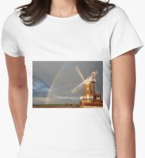 Cley Windmill and Rainbow 2010 Women's Fitted T-Shirt