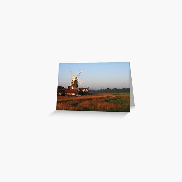 Cley Windmill at Dawn Greeting Card