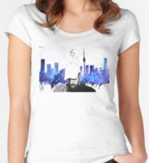 Drake - Watercolors (Blue) Women's Fitted Scoop T-Shirt