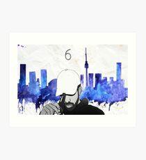 Drake - Watercolors (Blue) Art Print