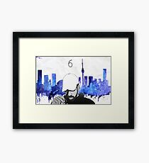 Drake - Watercolors (Blue) Framed Print