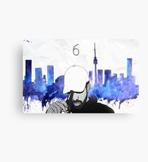 Drake - Watercolors (Blue) Metal Print