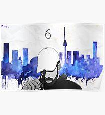 Drake - Watercolors (Blue) Poster