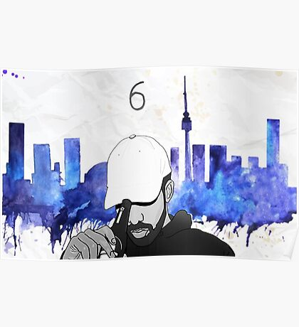 Drake - Watercolors (Blue) Poster