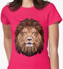 Lion low poly Womens Fitted T-Shirt