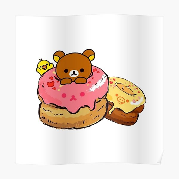 Rilakkuma and kiiroitori cake Poster