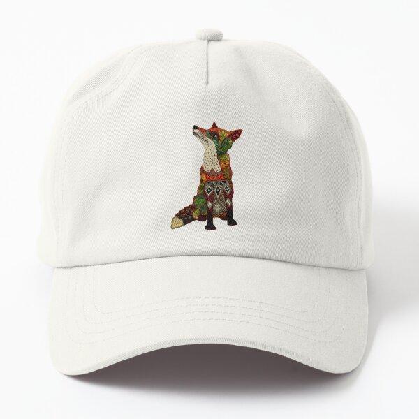 floral fox Dad Hat