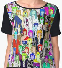 Bowie Zombies Chiffon Top