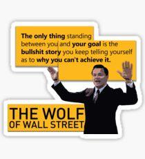 Di Caprio - Wolf of Wallstreet Sticker