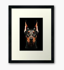 Doberman low poly Framed Print