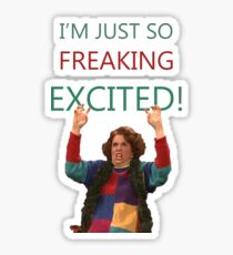 Kristen Wiig: I'm just so freaking excited!  Sticker