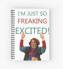 Kristen Wiig: I'm just so freaking excited!  Spiral Notebook