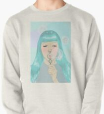Blue Girl Blowing Bubbles Pullover