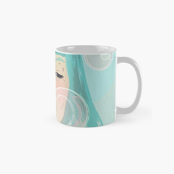 Blue Girl Blowing Bubbles Classic Mug