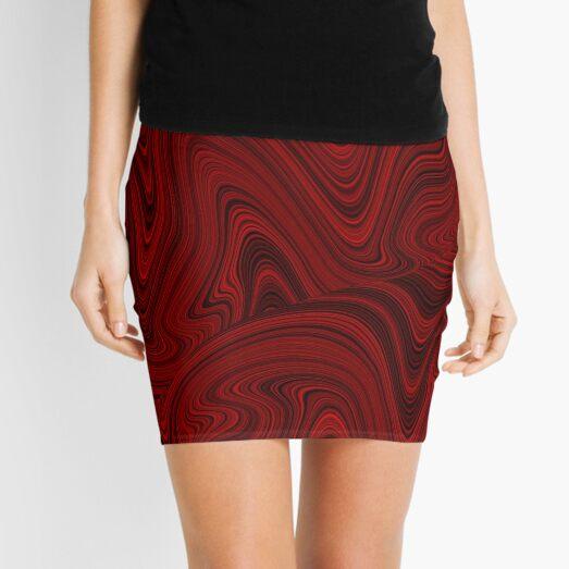 Dark red marble pattern  Mini Skirt