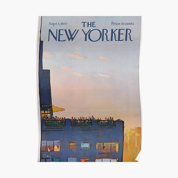 Das New Yorker Vintage-Cover Poster