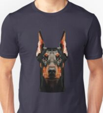 Doberman low poly Unisex T-Shirt