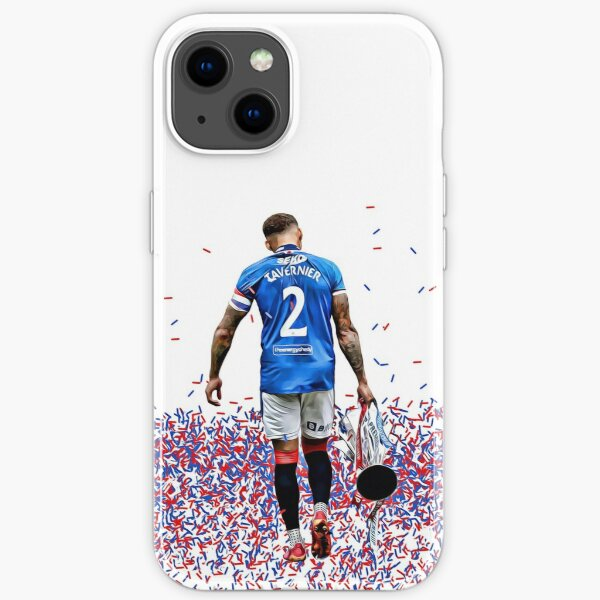 Rangers FC Captain James Tavernier with the 55th League Title Trophy iPhone Soft Case