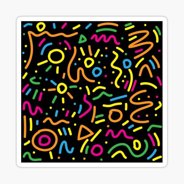 Graffiti-Kringel - Schwarz Sticker